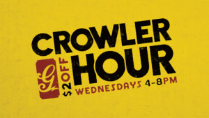 $2 Off for Crowler Hour - Every Wednesday, 4-8pm! @ Great Raft Brewing